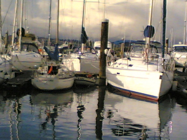 Turnstone in Brixham Marina...