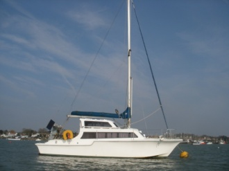 Rubessa on her mooring in W. Mersea, UK..